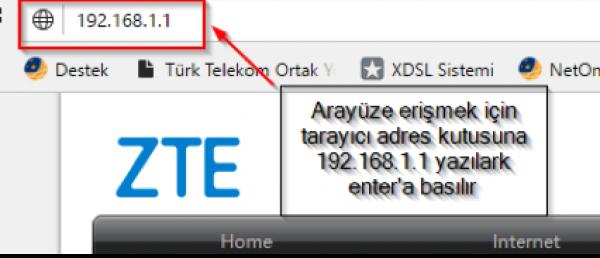 ZTE ZXHN H267N Modem Kurulumu - TurkNet İlk Yardım
