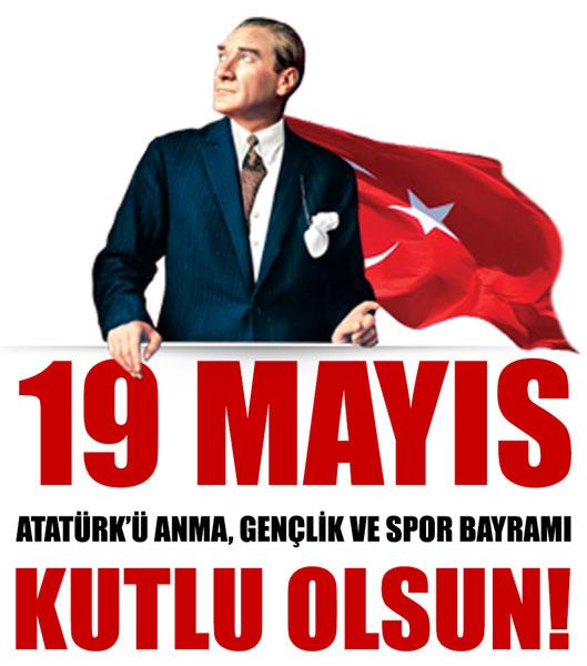 Başta gençlerimizin olmak üzere tüm milletimizin 19 Mayıs Atatürk'ü Anma, Gençlik ve Spor Bayramı'nı kutluyoruz!